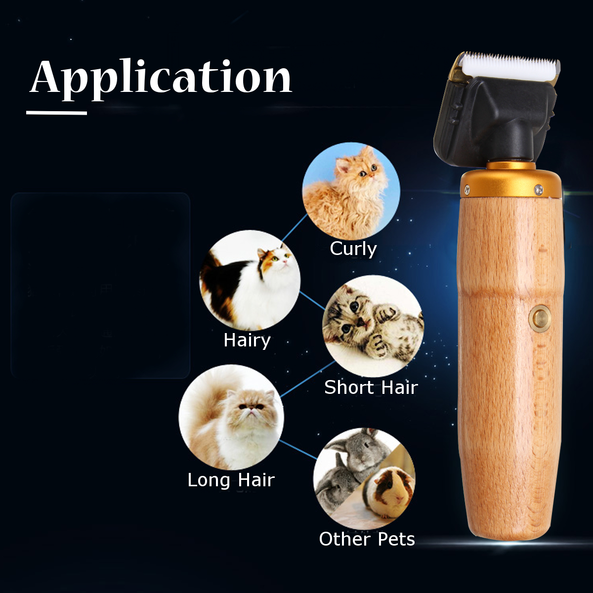 100-240V Professional Pet Hair Clipper Trimmer Grooming Kit Low Noise Pet Trimming Shaver