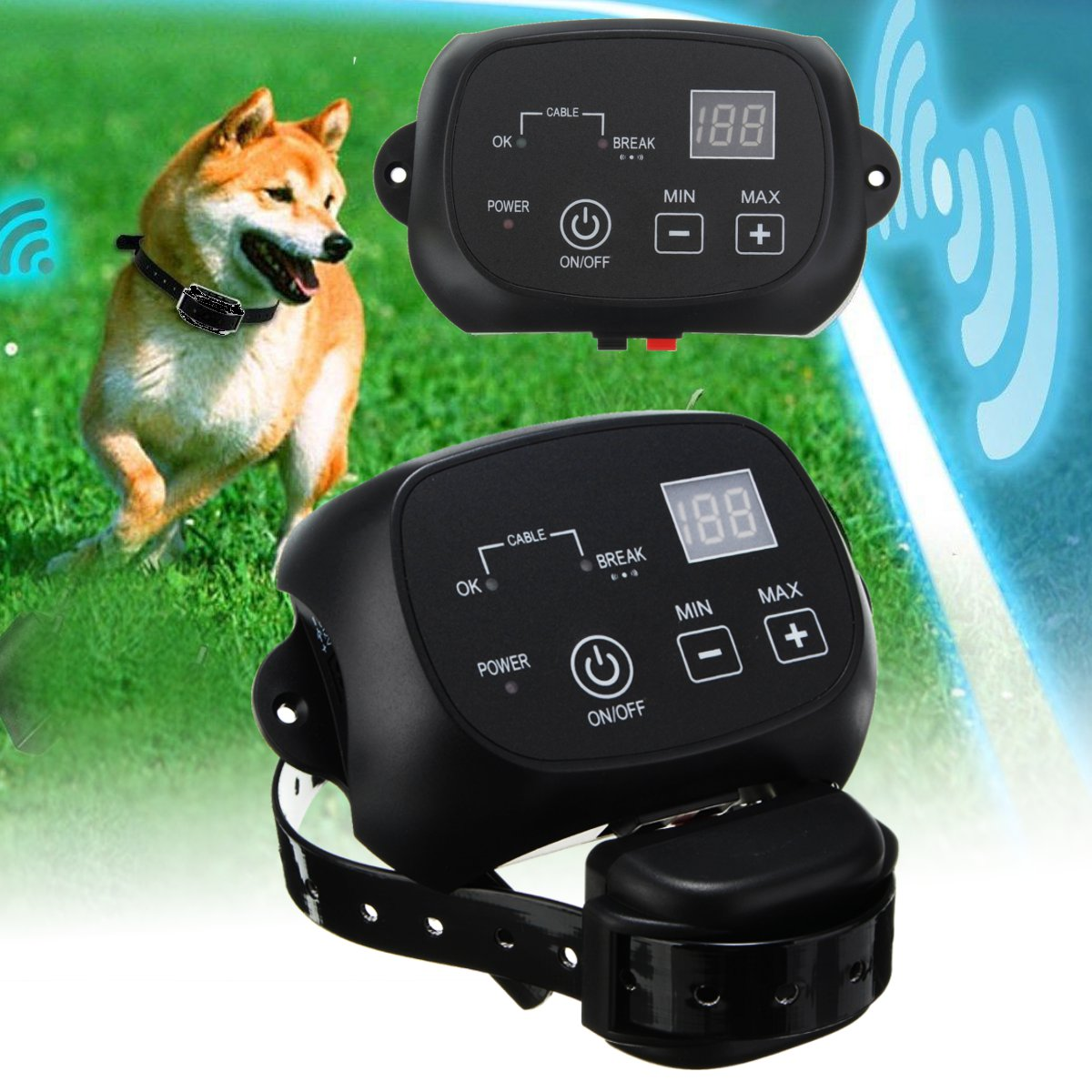 Outdoor Underground Invisible Rechargeable And Waterproof Electronic Pet Dog Fence System Fencing Shock Collar