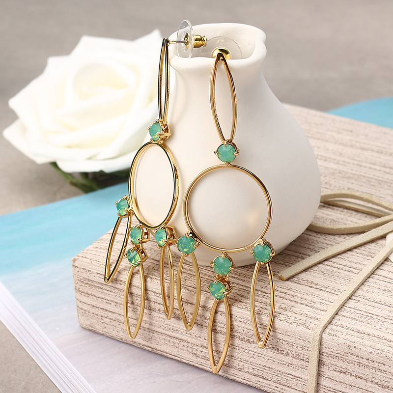 JASSY Hollow 18K Gold Plated Earring