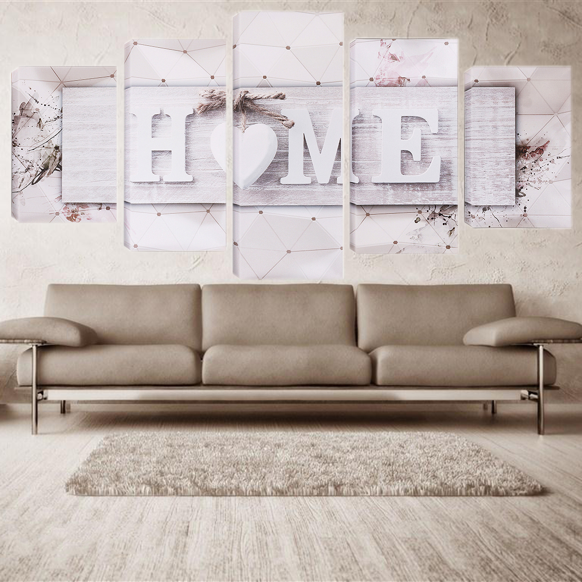 5 Pcs Unframed Canvas Art Print Paintings Picture Home Modern Wall Hanging Decor