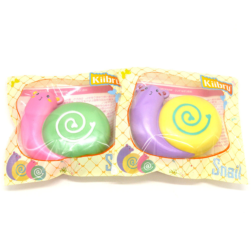 Kiibru Squishy Snail 12cm Scented Slow Rising Original Packaging Collection Gift Decor Toy