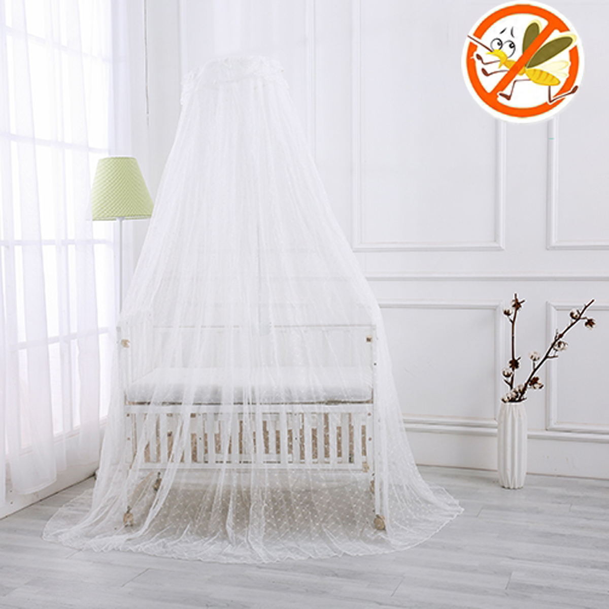 Kids Baby Bed Canopy Bedcover Mosquito Net Curtain Bedding Cotton Dome Tent