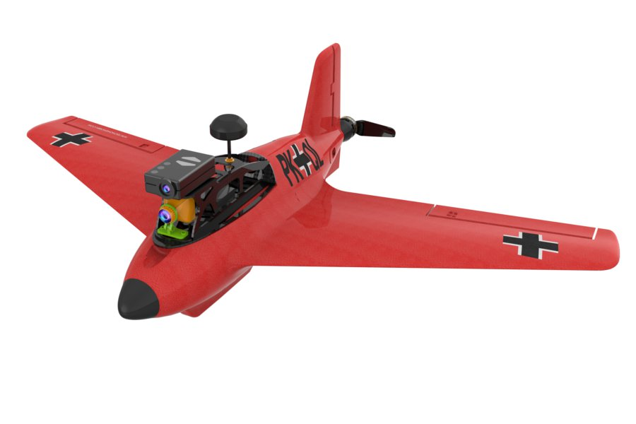Upgraded Techone FPV Kraftei 650 702mm Wingspan EPO FPV Racer Flying Wing RC Airplane KIT