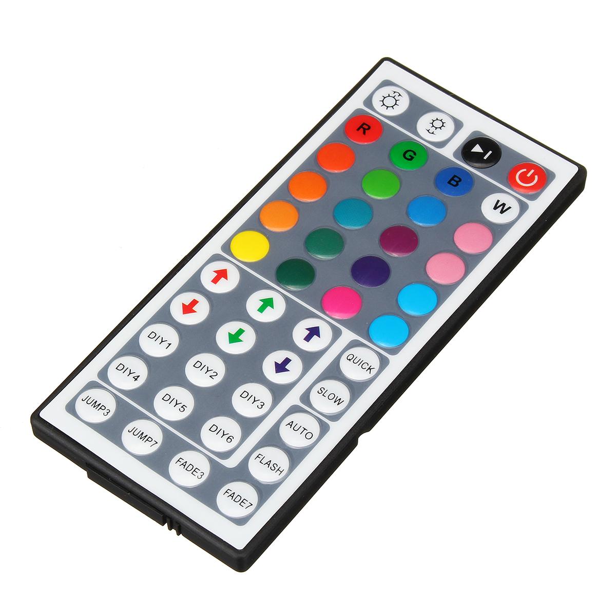DC12V 6A 72W 44 Key IR Remote Controller for RGB LED Strip Lights