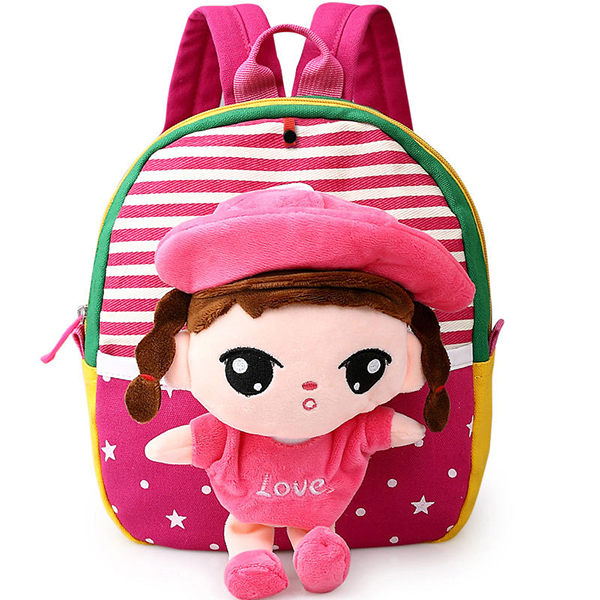Kids Lovely Canvas Backpack Cartoon Animals Cute School Bag 1-3 Years Old