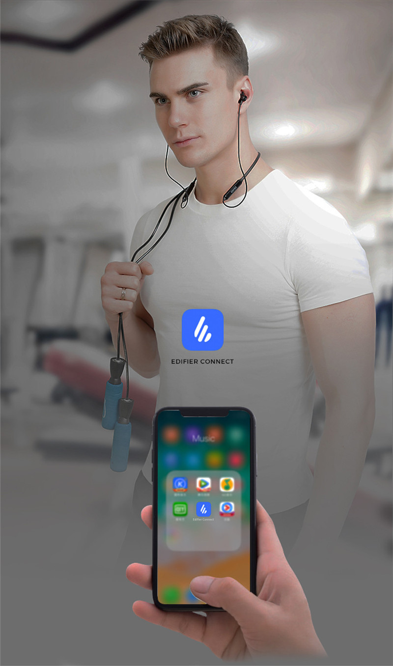 EDIFIER W200BT bluetooth V5.0 Magnetic Neckband Earphone Stereo Sports In-ear Headphone With Mic for Xiaomi
