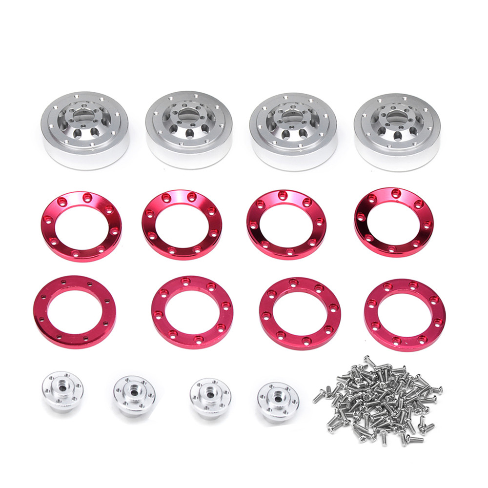4Pcs WPL 1/16 6X6 Military Trunk RC Car Wheel Hub Alloy For 1/16 B16 Kit - Photo: 10