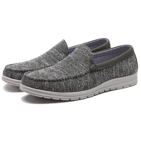 Men Casual Slip On Cloth Flats Loafers Soft Shoes