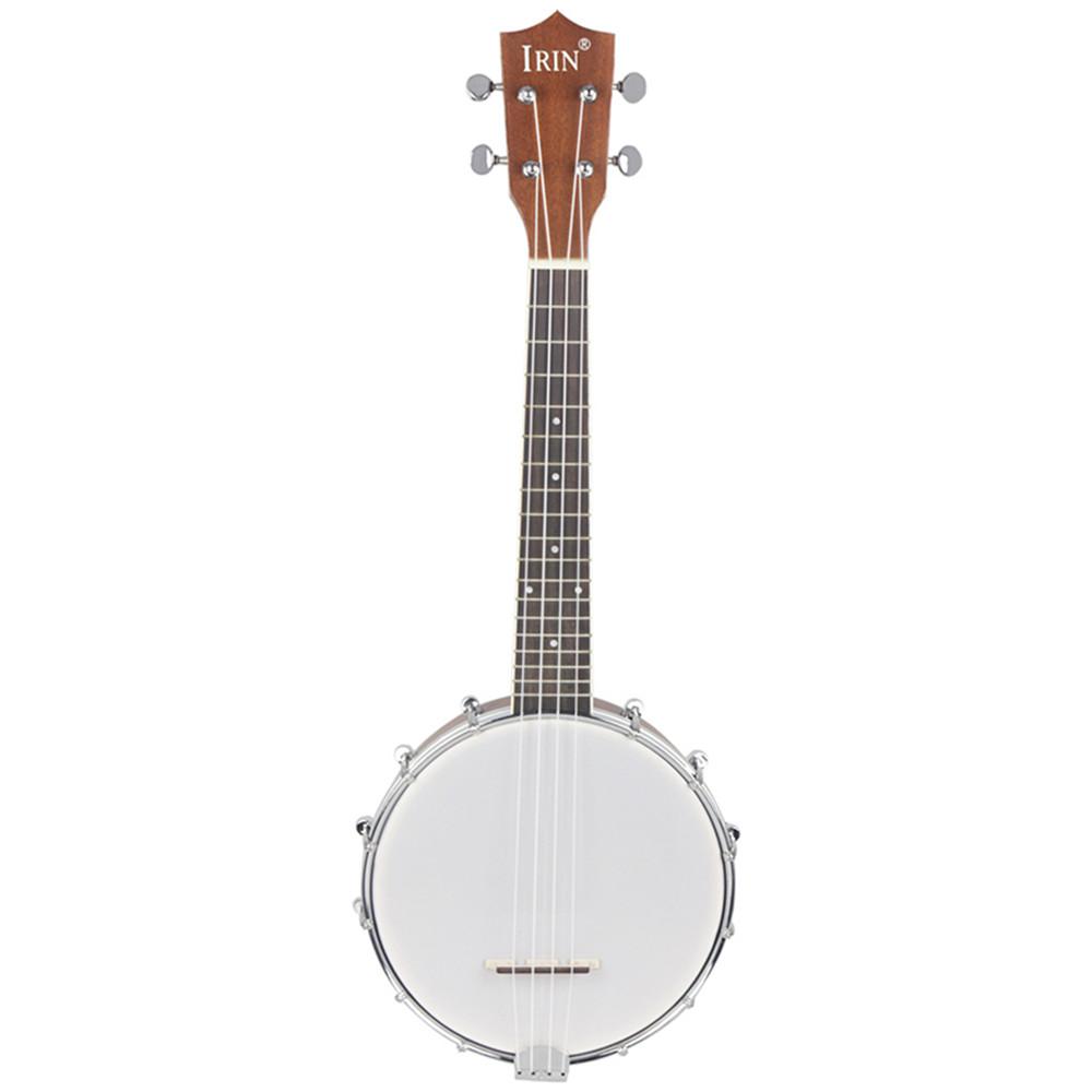 IRIN 23 Inch Banjo Sapele Wood 4 Strings Banjolele Concert Size