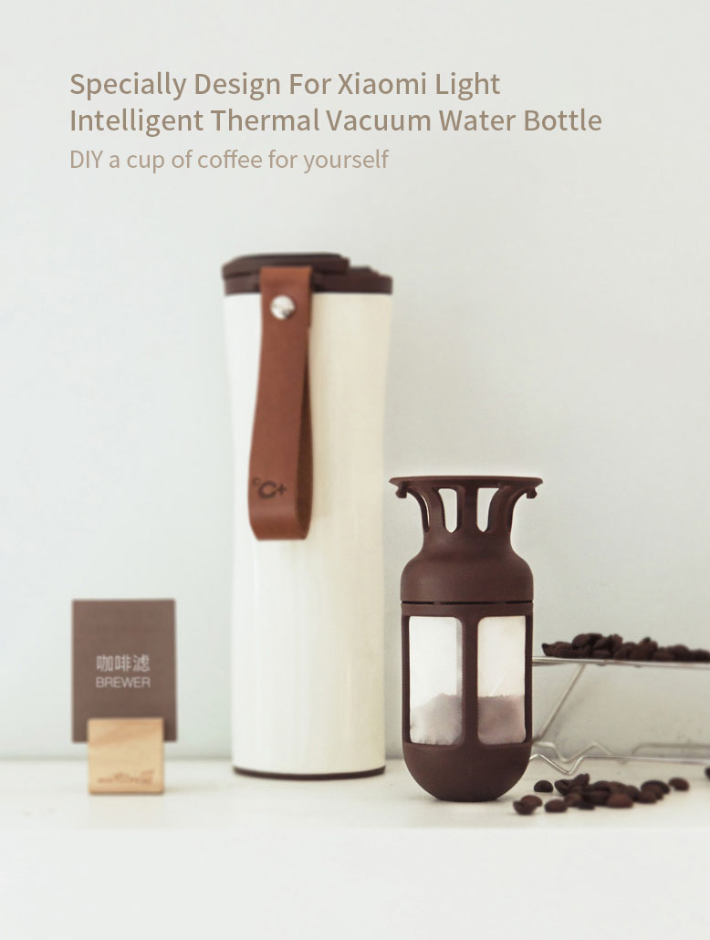 XIAOMI KISSKISS FISH Portable Intelligent Thermal Vacuum Water Bottle Accssories Tea Filter Coffee Filter