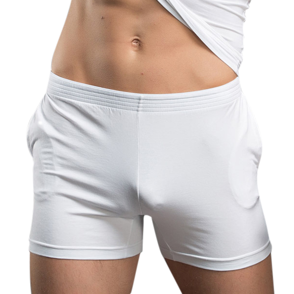 Mens Breathable Low Waist Pajamas Boxers Fitness Arrow Short
