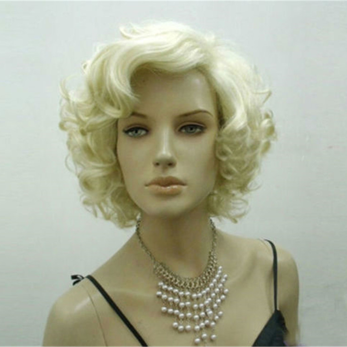 Blonde Marilyn Monroe Fashion Curly Wig Cosplay Hair Full Wigs Hot Style Short