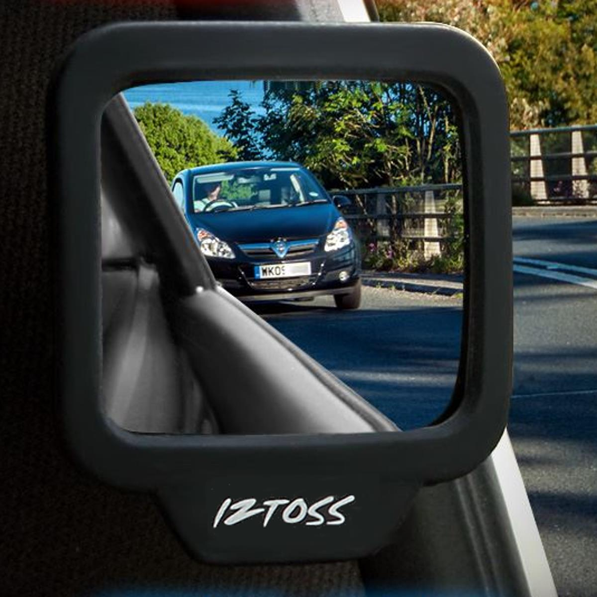 A Pair of Adjustable Angle 270 Degree Car Safety Observation Blind Spot Mirror with Fixed bracket