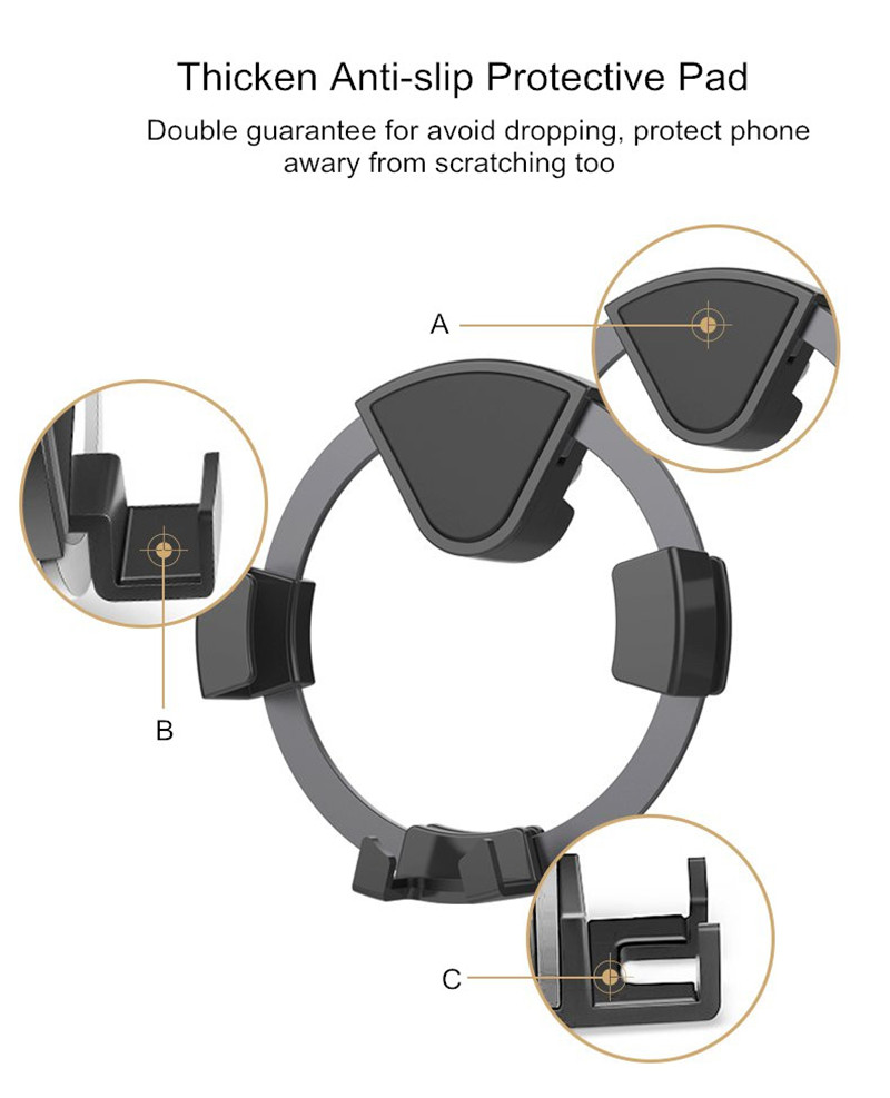 Universal Upgraded 360 Degree Protection Gravity Auto Lock Car Phone Holder Stand for Mobile Phone