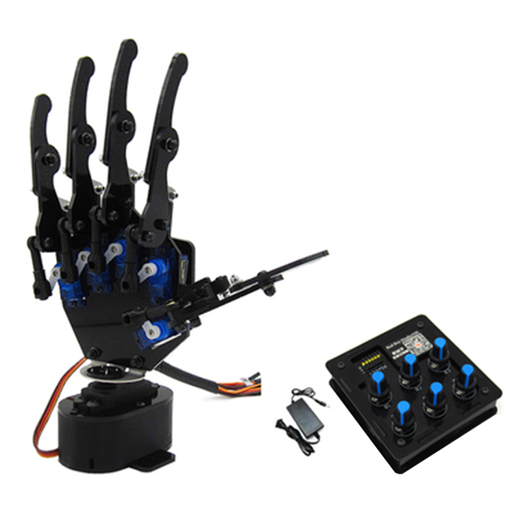 DIY 6DOF Assembled Manipulator Mechanical Arm Robot Paw Five Fingers Claw with Servo Control Board