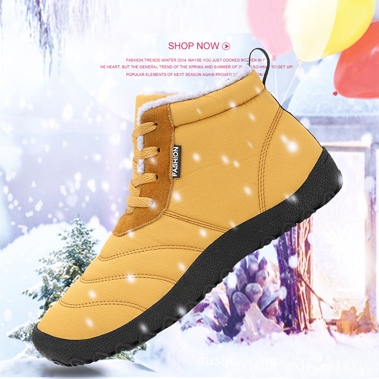 P335 Outdoor Winter Sport Men Women Ankle Boots Lace-up Trekking Worker Fleece Lined Shoes Sneakers
