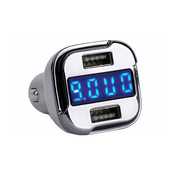 BT510 QC 2.0 Car Charger LED Screen Display Dual USB Automobile Battery Voltage Detection