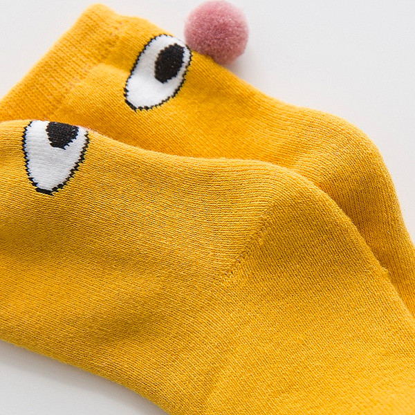 Child Cotton Cartoon Baby Loop Pile Socks Thickening Clown Ball Child Kid's Big Eyes Socks
