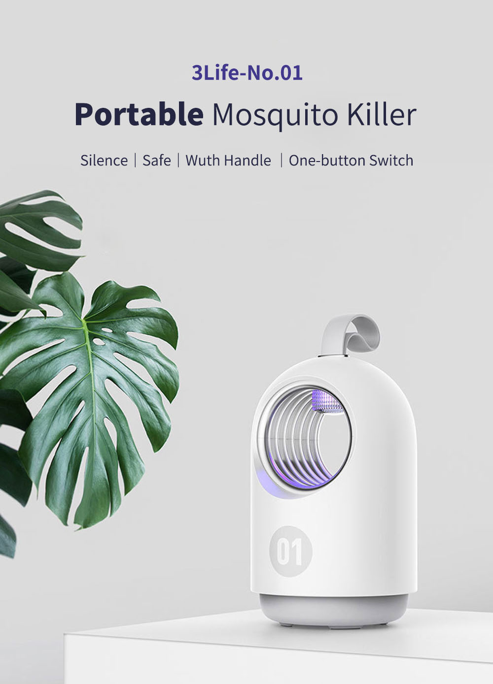 3life Household Photocatalyst Mosquito Killer Light Indoor LED Bug Insect Killer Lamp Mosquito Repeller from xiaomi youpin