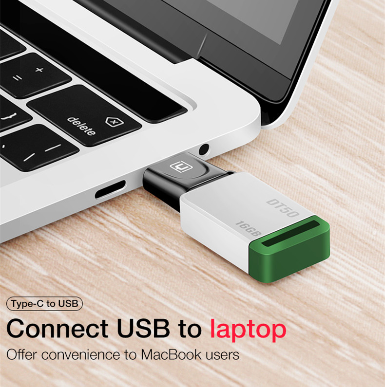 Cafele Metal Mini Portable USB to Type-c Adapter Converter for Tablet PC