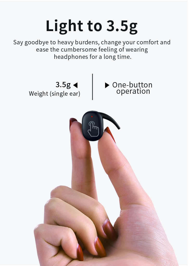 [True Wireless] TWS bluetooth 5.0 Earphone Touch Waterproof Noise Cancelling Headset for Iphone Android