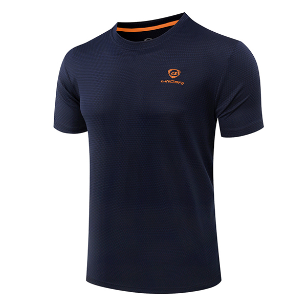 Mens Casual Quick Drying Round Neck Sport Breathable Short Sleevet-shirts