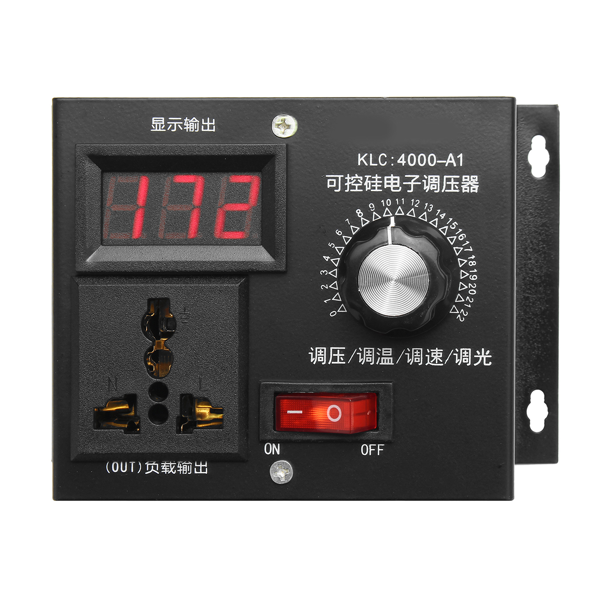 220V 4000W Universal Motor Speed Controller Variable Voltage Speed Regulator LED Display Motor Control Dimmer