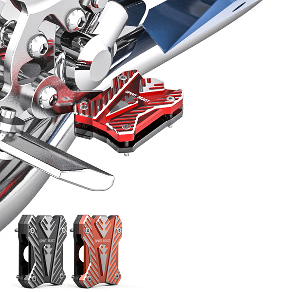 Motorcycle Front/Rear Footrest Foot Brake Pedal Electric Scooter Bike Pegs Anti Skid Pad