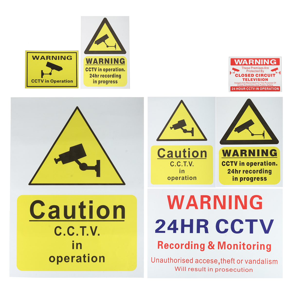 CCTV Camera Security Camera Warning Sticker Sign Decal CCTV Recording Shop