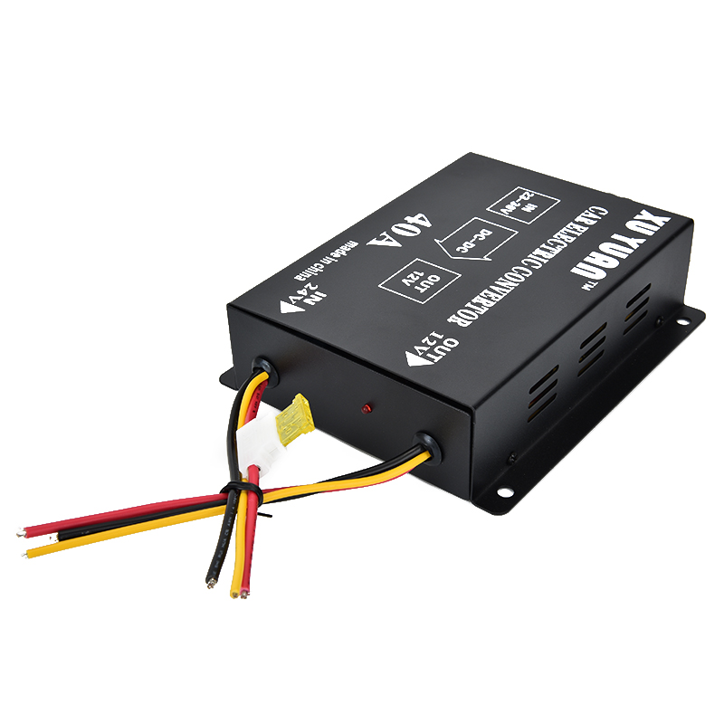 Auto Car Vehicle 40A DC 24V To 12V Efficient Power Supply Inverter Transformer Electric Convertor