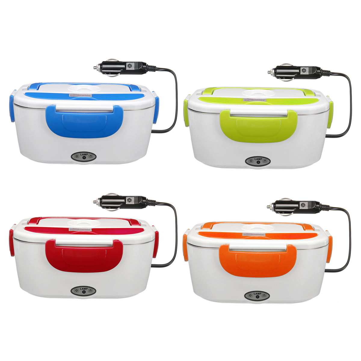 Multi-functional Portable Electric Heating Lunch Box Food Heater Rice Container for Home Office Car