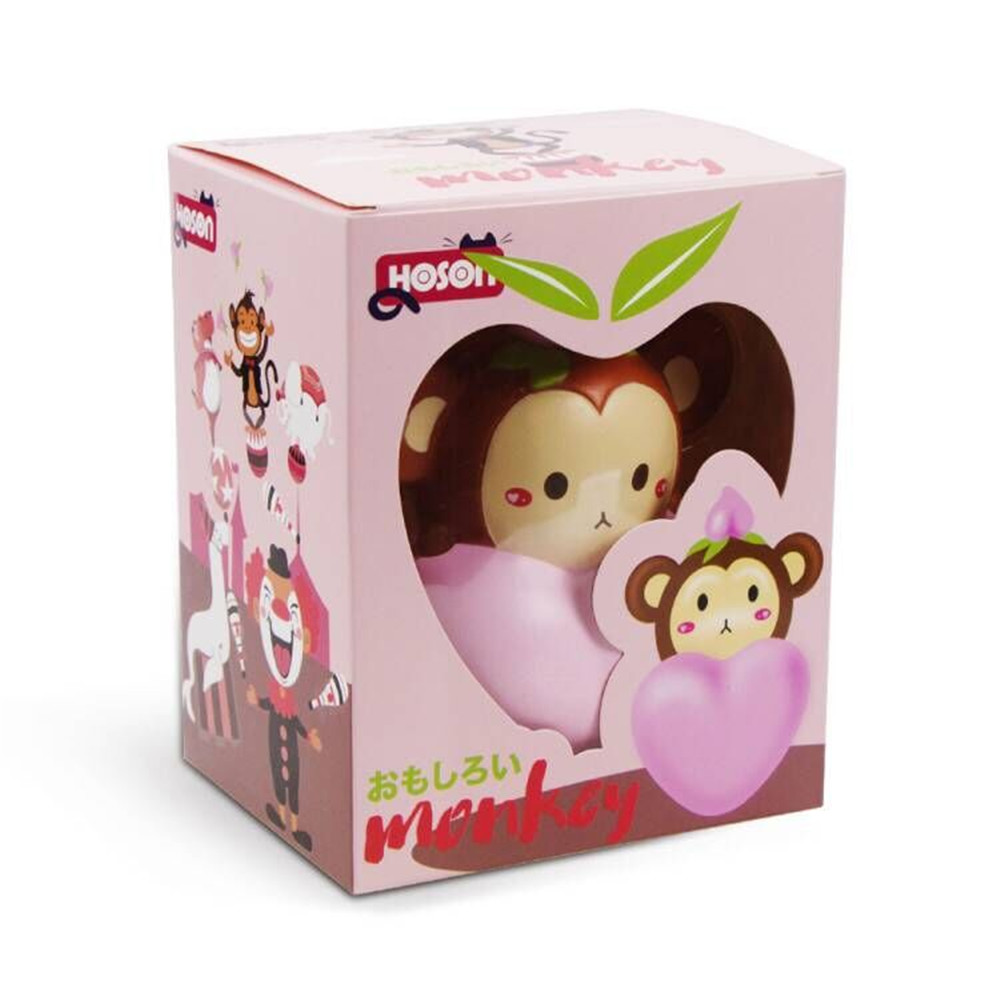 Hoson Squishy Monkey Peach Soft Slow Rising Toy With Original Packing