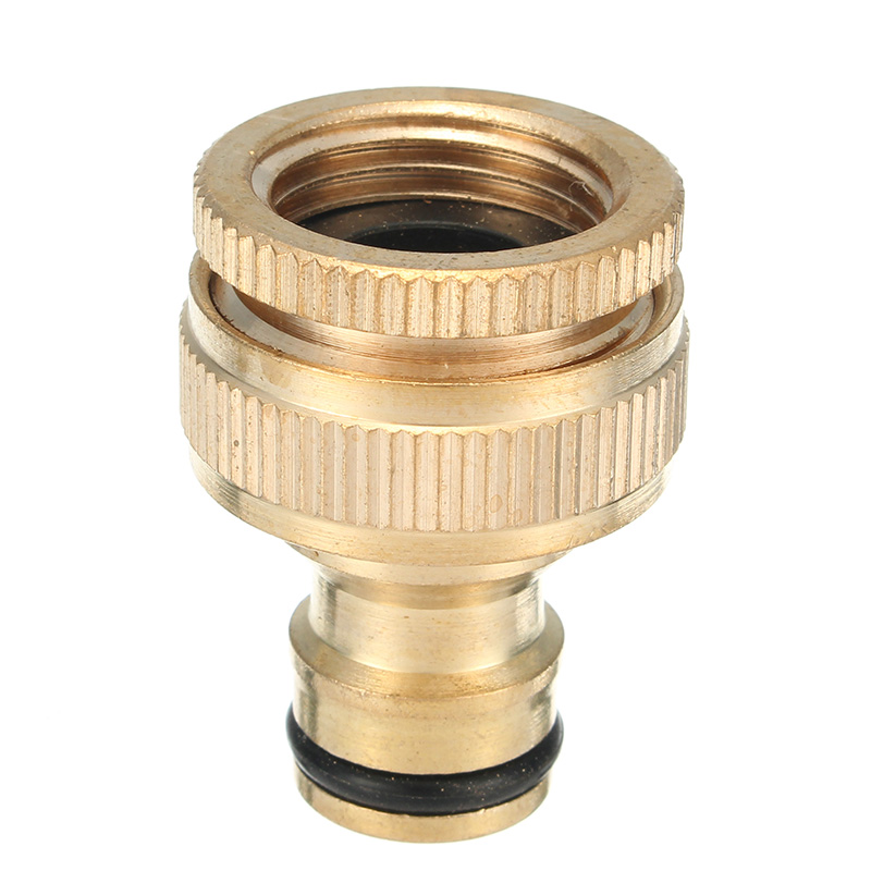 1/2 & 3/4 Inch Brass Faucet Adapter Female Washing Machine Water Tap Hose Quick Connector