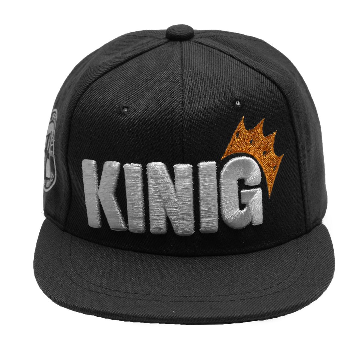 Children King Crown Flat Brimmed Baseball Cap Adjustable Embroidered Boy&Girl Hip-hop Hat Snapback