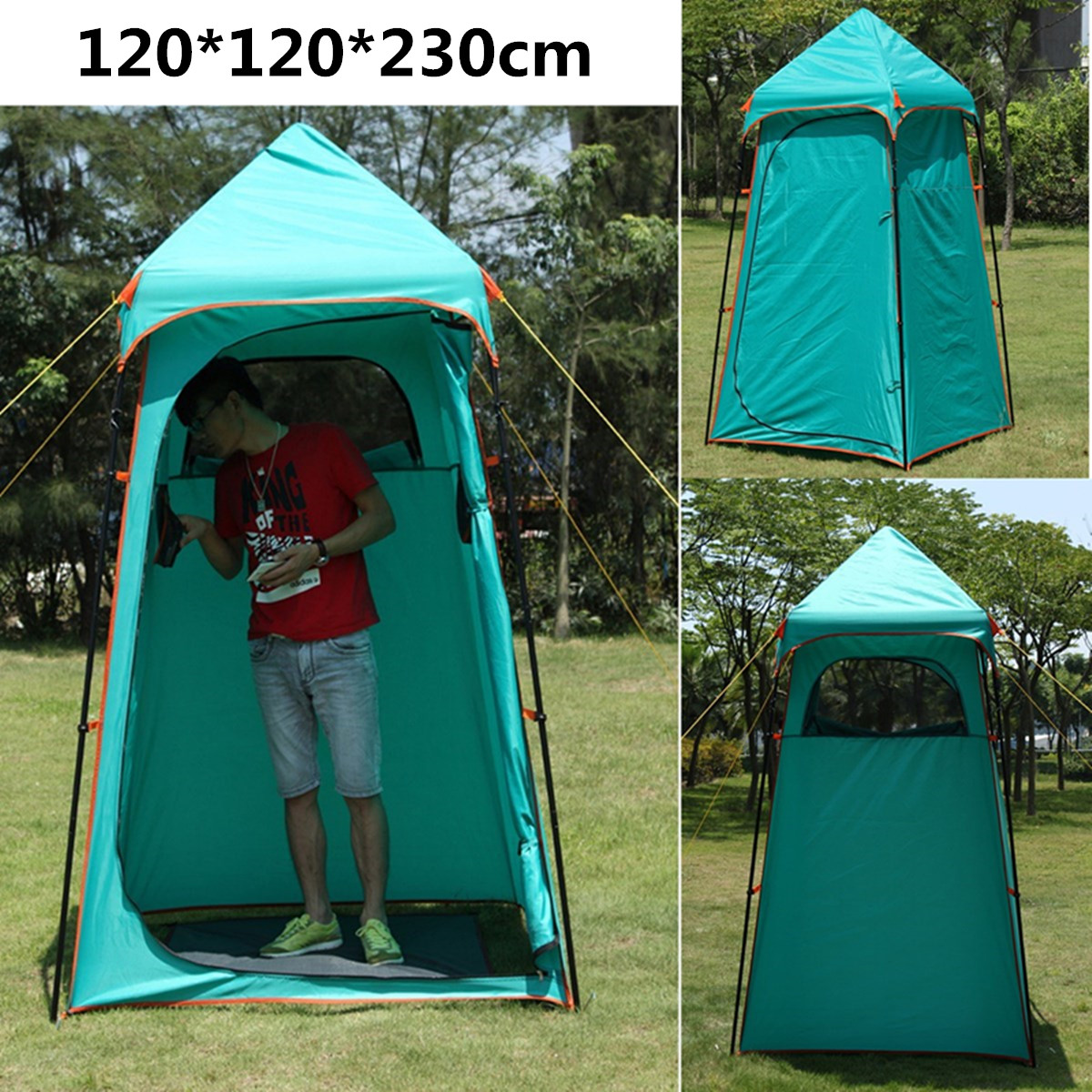 Portable Outdoor Shower Bath Tent Beach Toilet Fitting Room Shelter Travel Fishing Tents