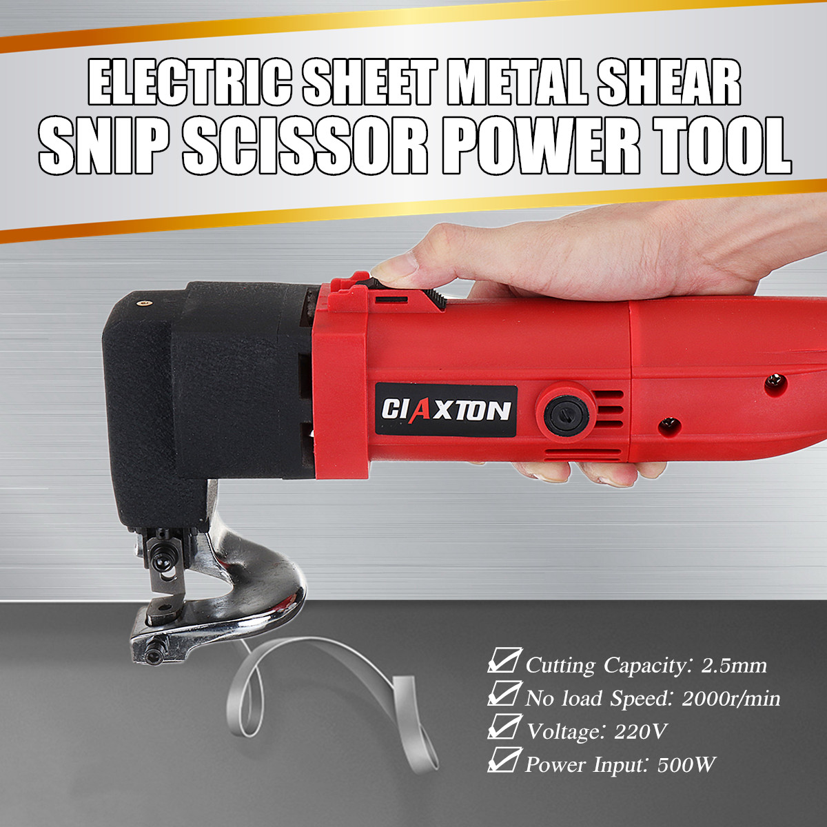 500W 220V Electric Sheet Metal Shear Tin Snips Cutter Nibbler Heavy Duty Power Tool