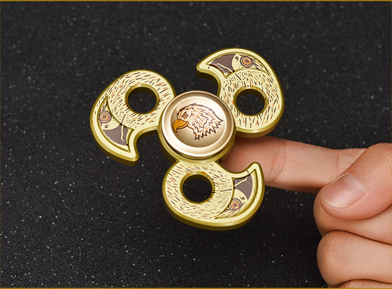 Aluminum Alloy Eagle Shape Fidget Hand Spinner ADHD Autism Reduce Stress Focus Attention Toys