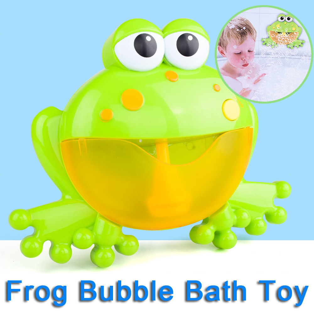 Big Frogs Automatic Bubble Maker Blower Music Bubble Maker Baby Bath Toy Bubble Machine Bathtub Soap Machine Toys for Children
