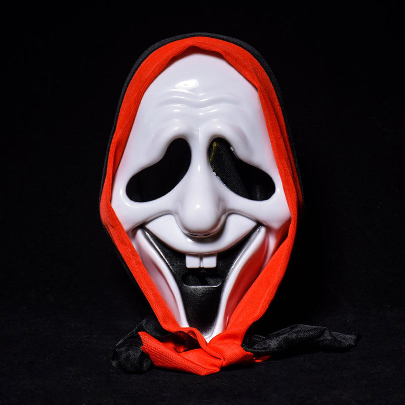 Halloween Skull Mask Bar Dance Horror Scary Soul Props Demon Devil Smile Door ghosts