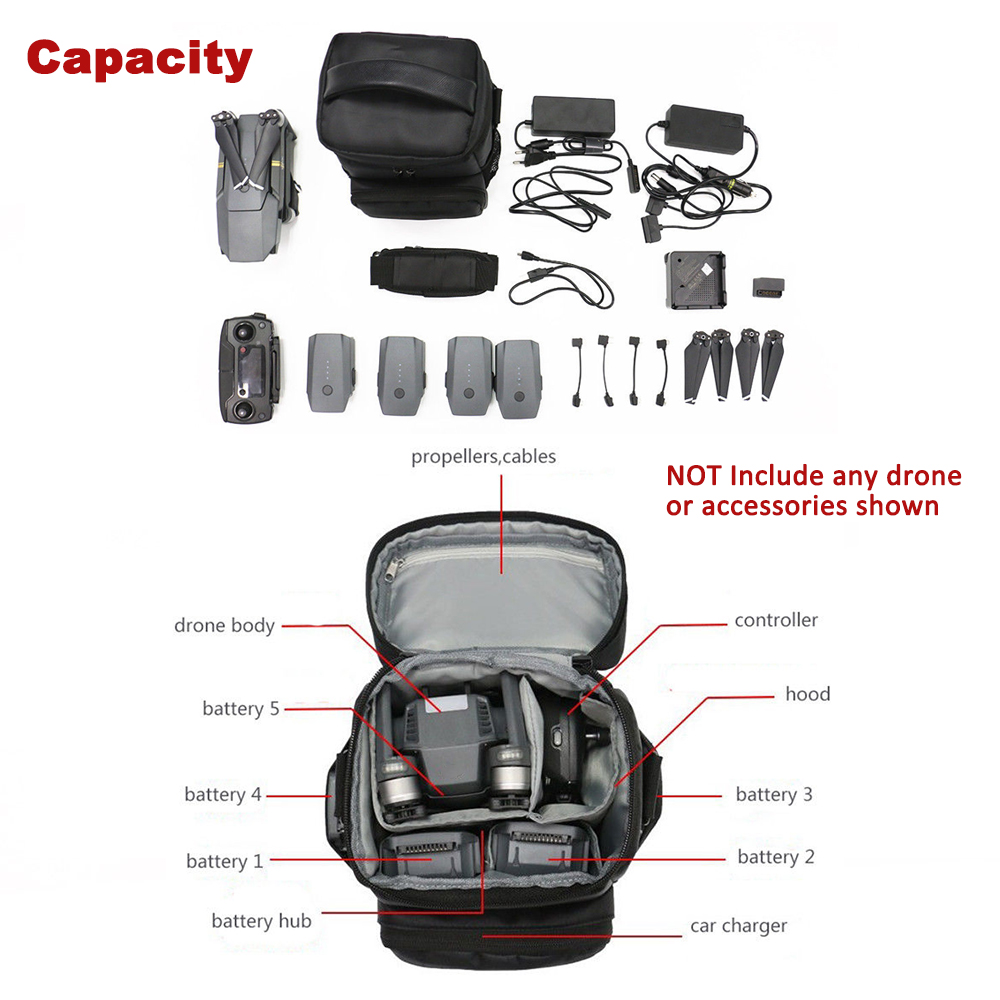 Portable Carry Storage Case Nylon Shoulder Bag Backpack for DJI Mavic Pro RC Drone - Photo: 4