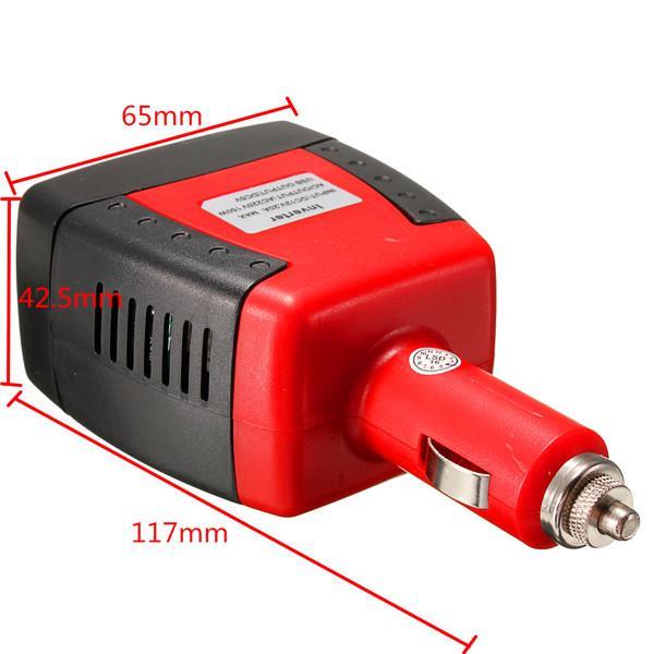 150W 12V DC To AC 220V 50Hz 5V USB Car Power Inverter Charger Adapter Convertor