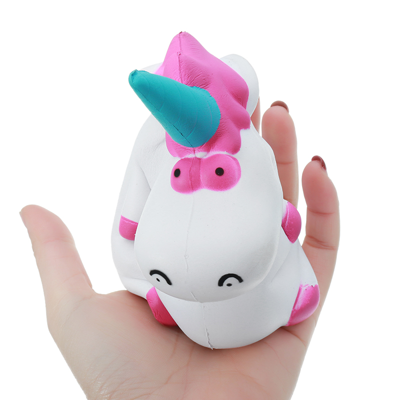 Jumbo Cute Unicorn Hippo Squishy Doll 15.5CM Slow Rising Colorful Phone Strap DIY Decor Toys