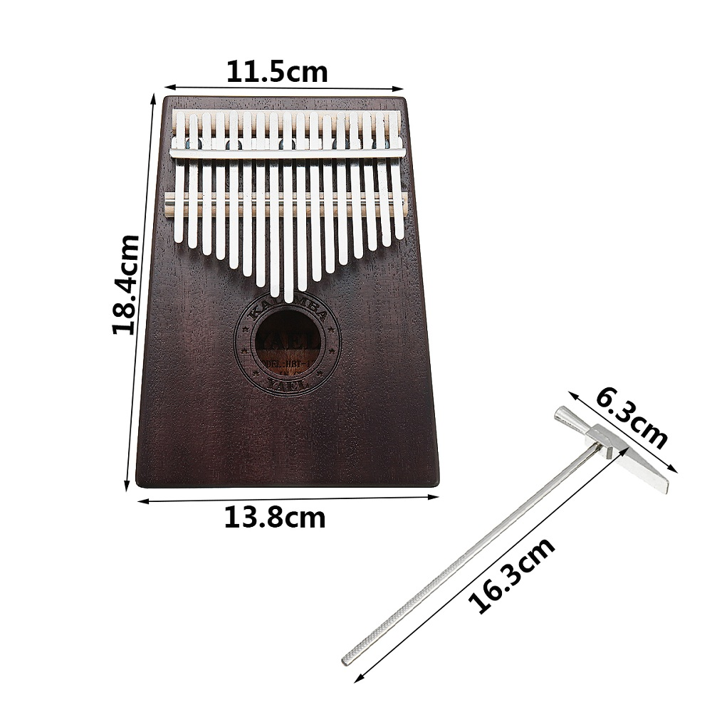 17 Keys Wooden Kalimba African Mahogany Thumb Pocket Piano Finger Percussion Music Instrument