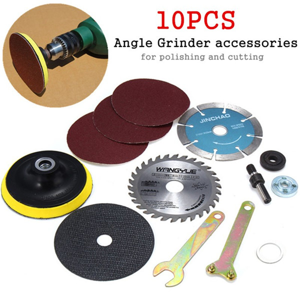 10pcs 10mm Diameter Cutting Accessories For Variable Angle Grinder & Hand Drills