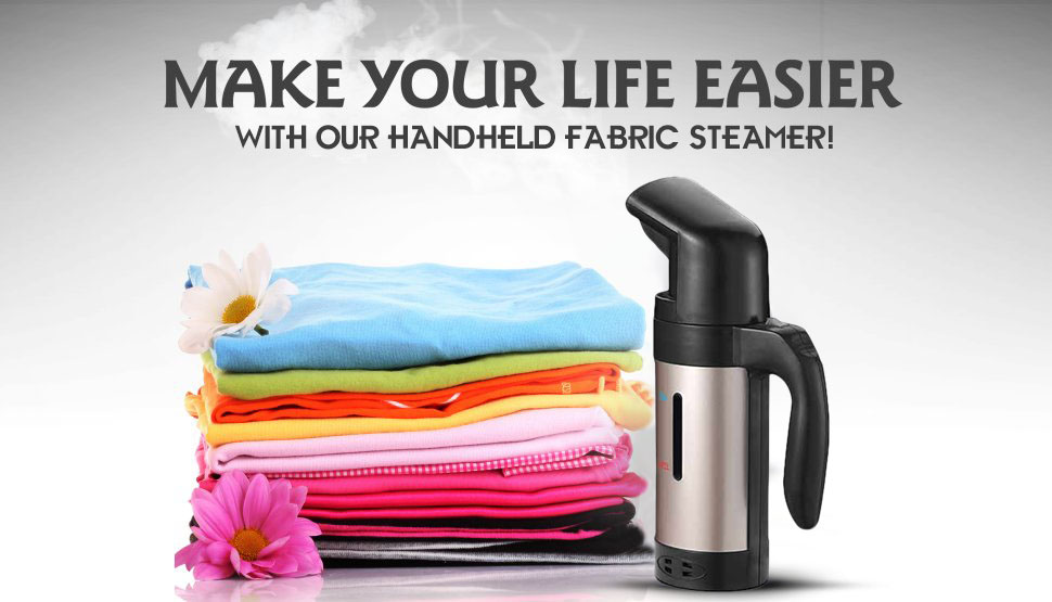 Garment Steamer 200ml Portable Handheld Fabric Steamer Fast Heat Up Powerful Travel Garment Clothes
