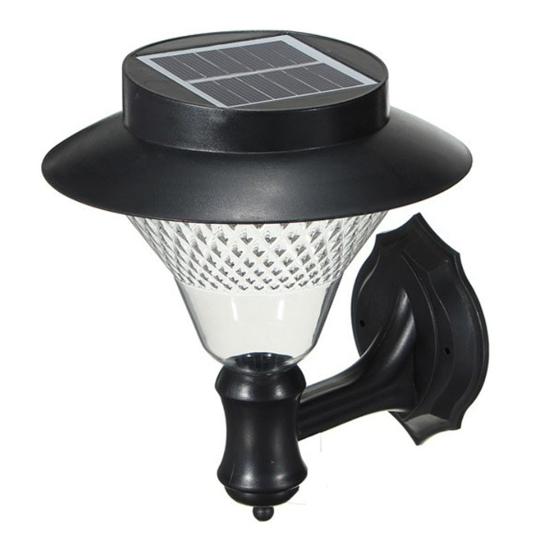 Solar Power 16 LED Wall Light Outdoor Garden Yard Pathway Waterproof Security Lamp