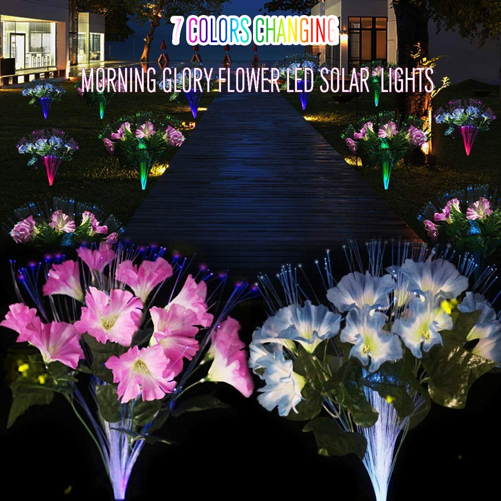 10 LED Solar Power Light Flower Landscape Lamp for Garden Yard