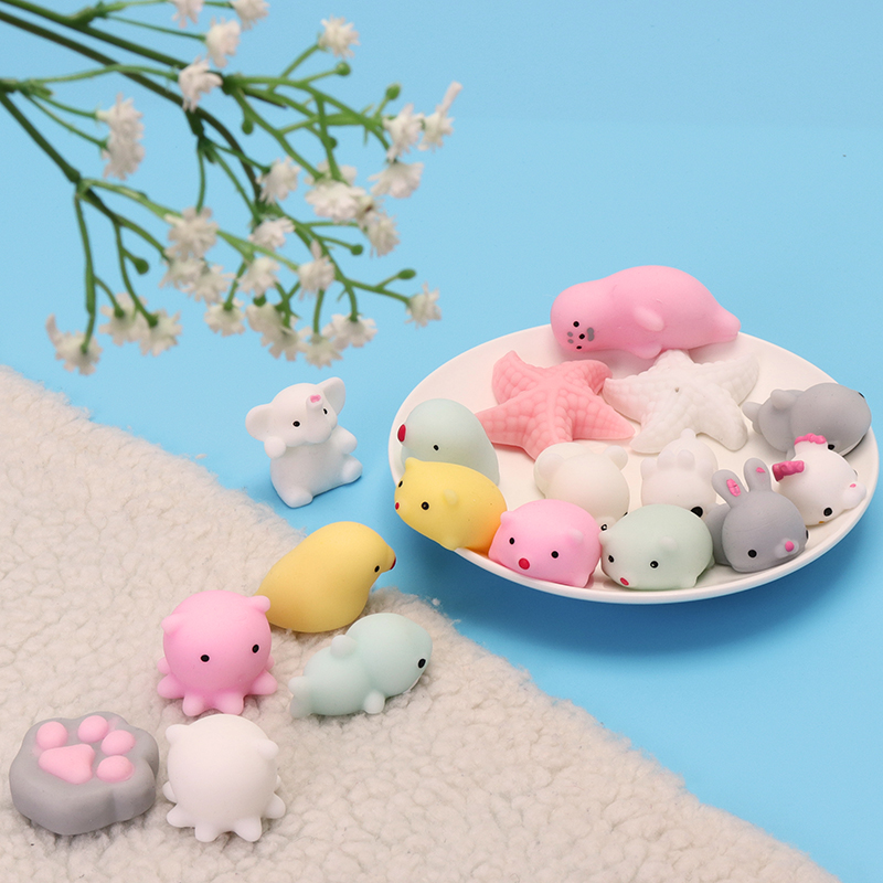 Elephant Mochi Squishy Squeeze Cute Healing Toy 4cm Kawaii Collection Stress Reliever Gift Decor