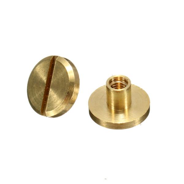 4-15mm Screw Back Button Stud Screw Brass Nail Leather Belt Chicago Rivet