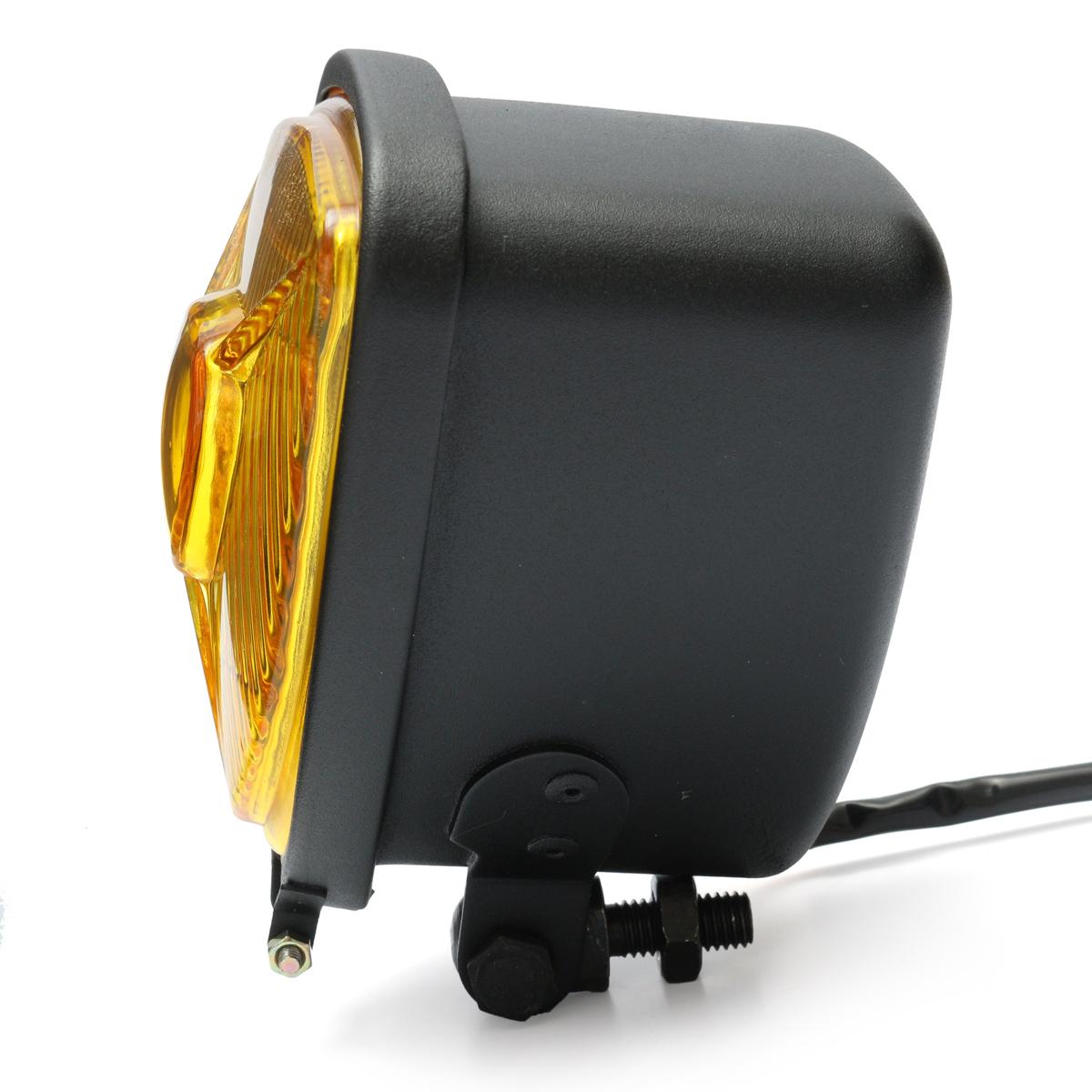 12V H4 35W Motorcycle Triangle Headlight Hi/Lo Beam For Harley Chopper
